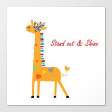 Tribal Giraffe Canvas Print