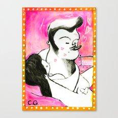 SMOKER THREE (smoky lovers) Canvas Print