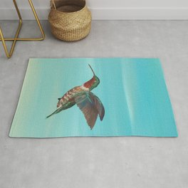 Hummingbird on the Move Rug