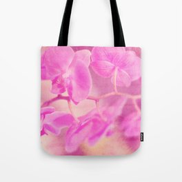 Scripted Orchid Tote Bag