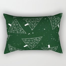 Christmas Trees Green Rectangular Pillow