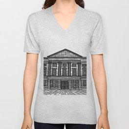 Shrewsbury Museum and Art Gallery, Black and White Unisex V-Neck