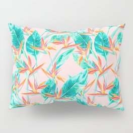 Birds of Paradise Blush Pillow Sham