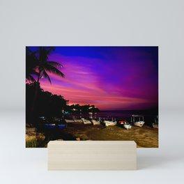 Sunset Beach Mini Art Print