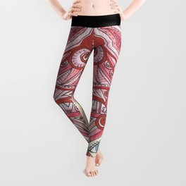 Cherry Red Cat Leggings