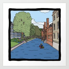 Cambridge struggles: Queens College Art Print