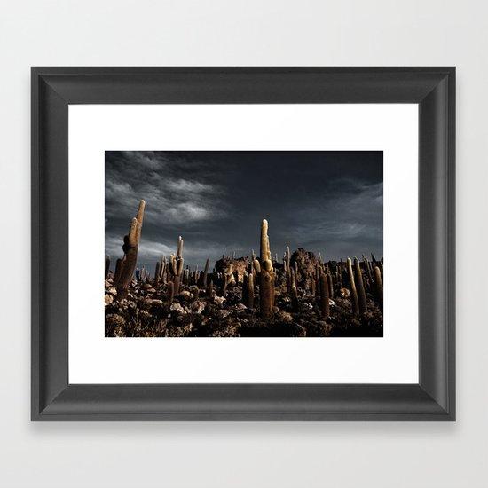 Cactus in Incahuasi island Framed Art Print
