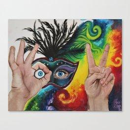 Psychedelic Mardi Gras Canvas Print