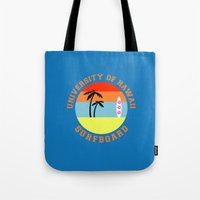 hawaii Tote Bags featuring Hawaii by lescapricesdefilles