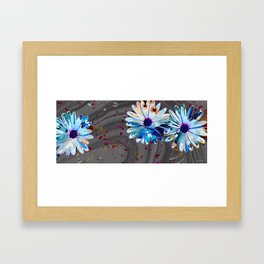 Wild Marbled Daisies Art - Sharon Cummings Framed Art Print