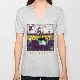 Controversy Prince Deep Purple Abstract Painting Modern Art Unisex V-Neck