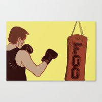 foo fighters Canvas Prints featuring Foo Fighter by Kramcox