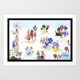 Indian miniature interpreted Art Print