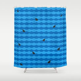 Ocean of Sharks Shower Curtain
