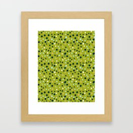 Dots and Rings Framed Art Print