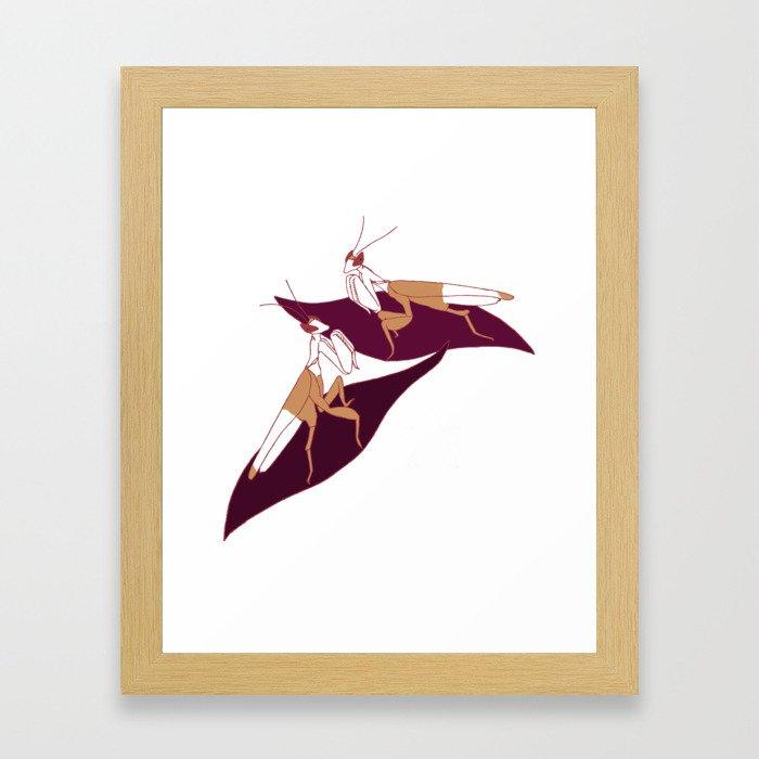 Orchid Mantids Framed Art Print