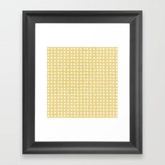 Orange Polka Pattern Framed Art Print