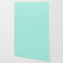 Aqua Blue Chevron Zig Zag Wallpaper