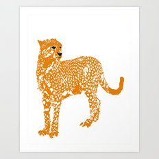Mighty Cheetah  Art Print