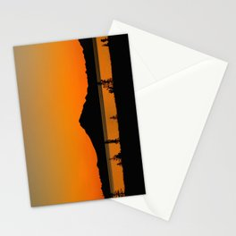 Sunset Silhouette, Mt. Redoubt - Alaska Stationery Cards