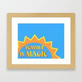SUMMER IS MAGIC Framed Art Print