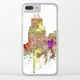Durham,NC Skyline - Faded Glory Clear iPhone Case
