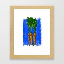 Block print carrots Framed Art Print