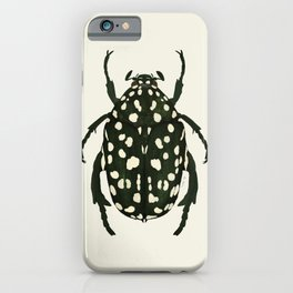 green beetle insect iPhone Case
