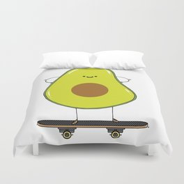 Avocado skater Duvet Cover