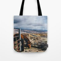 kerouac Tote Bags featuring type-fast (kerouac had a first name) by heretosaveyouall