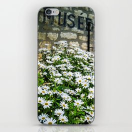 Museum & wild flowers - France iPhone Skin