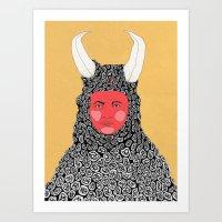 mars Art Prints featuring Mars by Matthew Goik