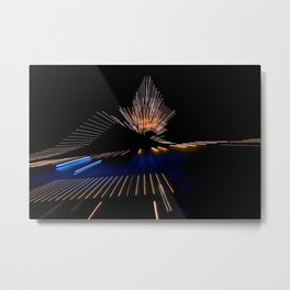 Abstract Dramatic Night Lights Metal Print