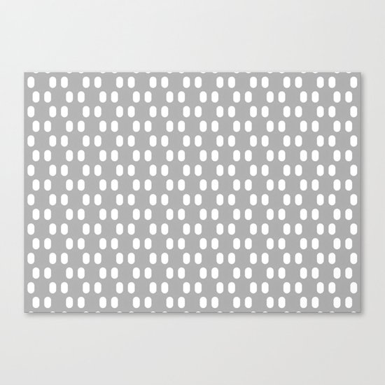 Aelbrecht Grey Pattern Canvas Print