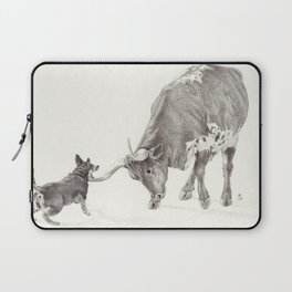 Penny vs. the Cow Laptop Sleeve