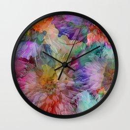 Dahlias Wall Clock