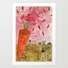 Everyone Love Carrot Art Print