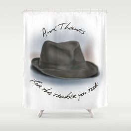 Hat for Leonard Cohen Shower Curtain