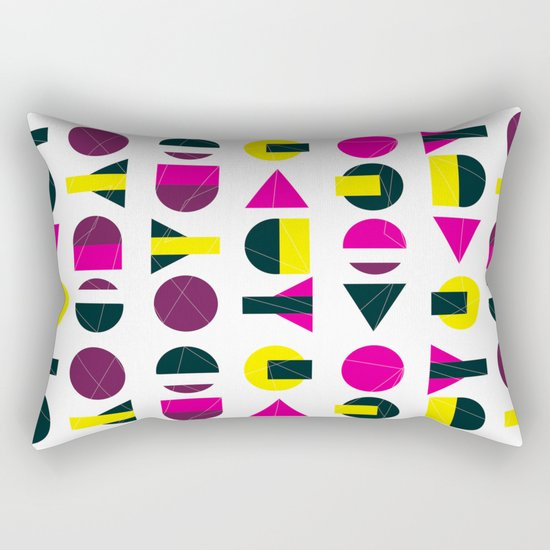 rasberry and lemon with litlle darkness Rectangular Pillow