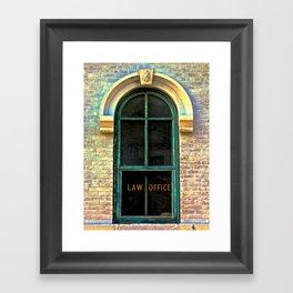 Law Office Framed Art Print