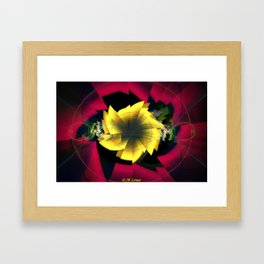 Fractal Rose Framed Art Print