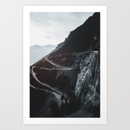 Roads of the Mountain (Color) Art Print