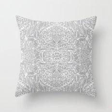 Frost & Ash - an Art Nouveau Inspired Pattern Throw Pillow