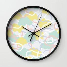 Modern Abstract Camo 09 Wall Clock