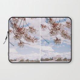 Washington DC Cherry Blossoms - Diptych Laptop Sleeve