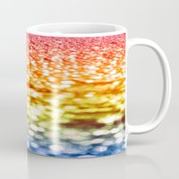 glitter Mugs featuring Rainbow Glitter Sparkles by Whimsy Romance & Fun