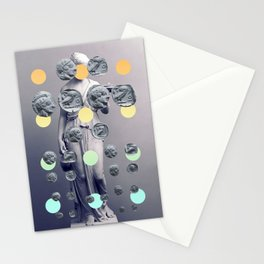 Statue With A Dot Gradient 1 Stationery Cards