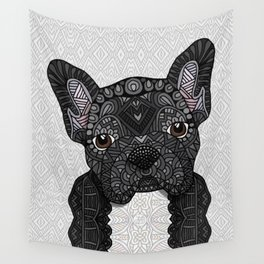 Black Frenchie 001 Wall Tapestry