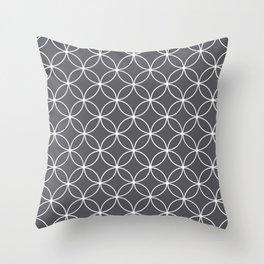 Circles Graphite Gray Throw Pillow