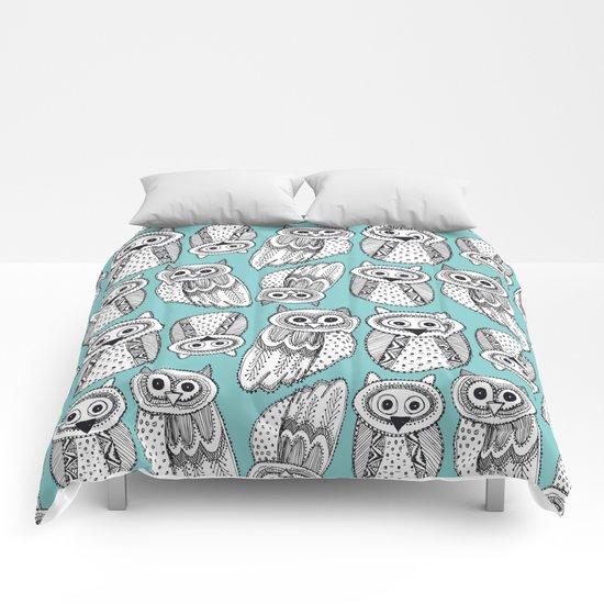 Hand dravn Cute Owl  Comforters